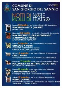 Locandina Notti di note e di teatro S.Giorgio del Sannio